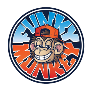 Logo van de Funky Munkey in Amsterdam