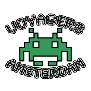 Logo van de coffeeshop Voyagers in Amsterdam